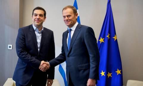 Σύνοδος Κορυφής: Τσίπρας και Τουσκ προετοίμασαν το έδαφος