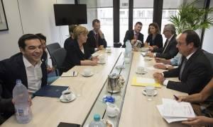 Σύνοδος Κορυφής: Τι συζήτησε ο Τσίπρας με Μέρκελ, Ολάντ, Γιούνκερ