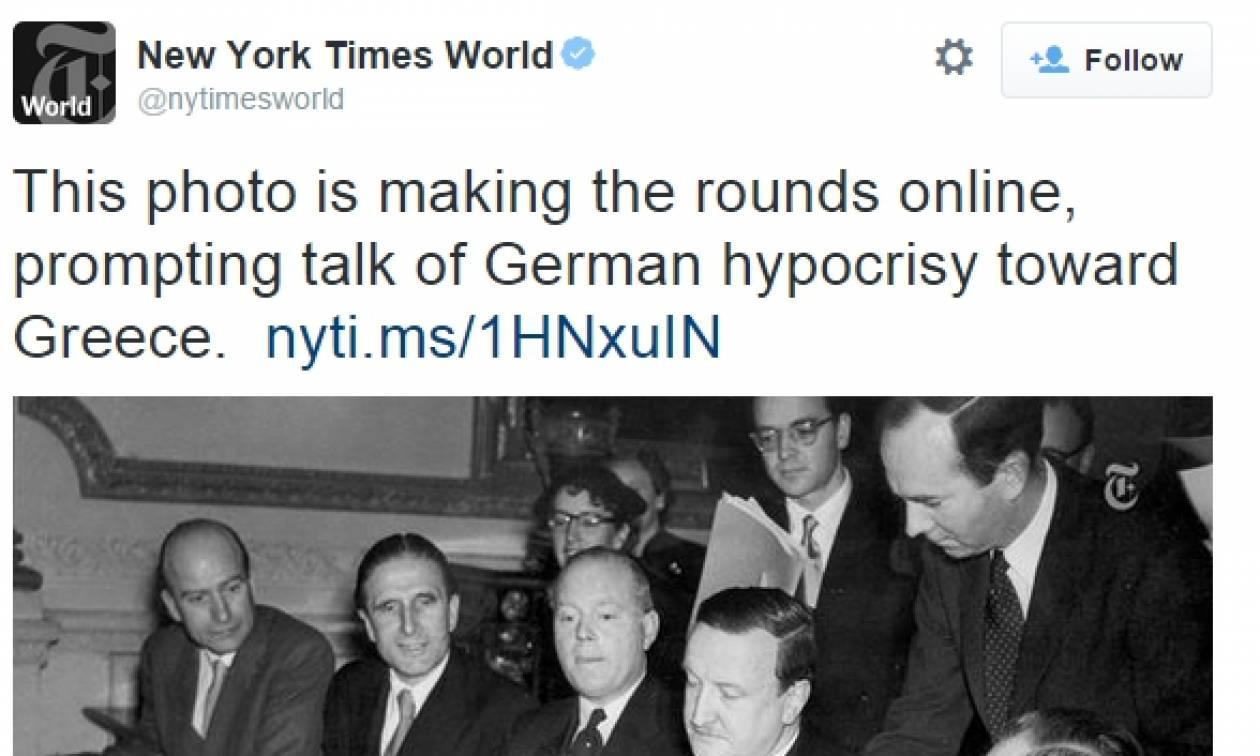 NY Times: Χτύπημα στην Γερμανία – «Οι υποκριτές ξέχασαν την ιστορία τους»!