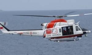 Ελικόπτερο και αεροσκάφος της τουρκικής ακτοφυλακής πέταξαν ξανά πάνω από το Κουνελονήσι