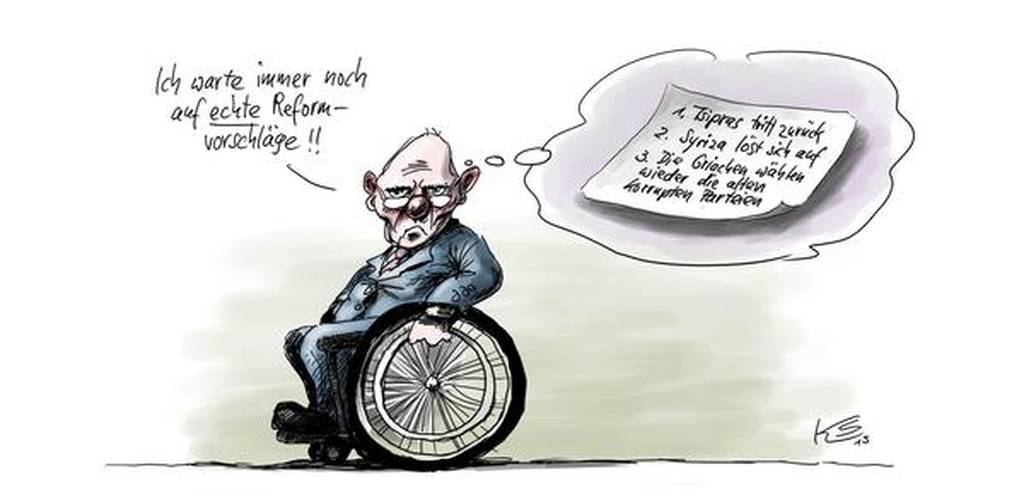 Σύνοδος Κορυφής: Οι… ευσεβείς πόθοι του Βερολίνου σε μία γελοιογραφία (photo)