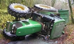 Πιερία: Αγρότης έπεσε με το τρακτέρ σε χαράδρα και πέθανε
