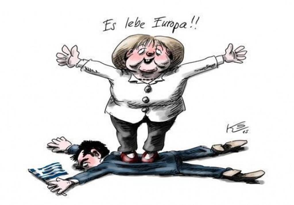 Συμφωνία - Η Μέρκελ πατάει πάνω στο Τσίπρα και φωνάζει: «Ζήτω η Ευρώπη»