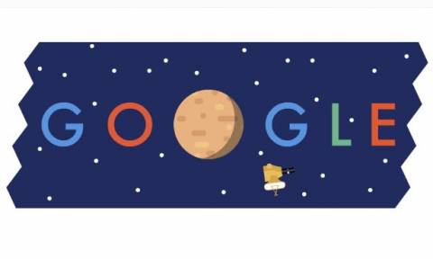Google Doodle: Η Google τιμά τον Πλανήτη του πάγου, τον Πλούτωνα