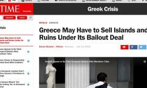 Συμφωνία - Time: Η Ελλάδα μπορεί να χρειαστεί να πουλήσει ακόμα και νησιά ή αρχαία ευρήματα