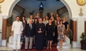 Ομογενείς εκπαιδευτικοί συναντήθηκαν με τον Αρχιεπίσκοπο Κύπρου