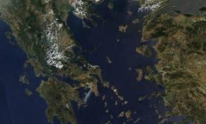 Πυρκαγιά: Δείτε πώς φαίνονται οι φωτιές σε Λακωνία και Καρέα από το διάστημα (Photo)
