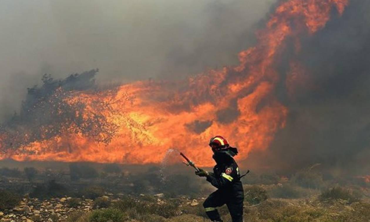Πυρκαγιές-Μαίνονται τα μέτωπα σε Σκύρο και Ζάκυνθο