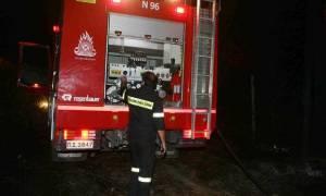 Ηράκλειο: Φωτιά σε χορτολιβαδική έκταση στους Κουνάβους