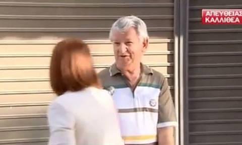 Η γιαγιά που εκνευρίστηκε με τον παππού και το ρεπορτάζ (video)