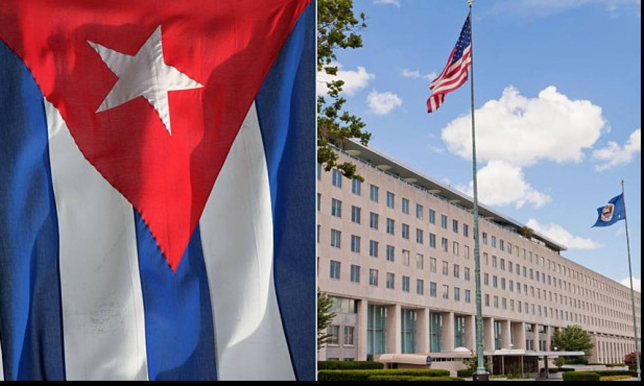 ΗΠΑ: Η σημαία της Κούβας κυματίζει στο αμερικανικό υπουργείο Εξωτερικών