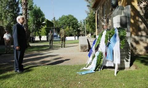 Κατάθεση στεφάνου από τον Πρόεδρο της Δημοκρατίας Πρ. Παυλόπουλο στο Πάρκο Ελευθερίας