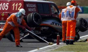 F1 Grand Prix Ουγγαρία : Θεαματικό ατύχημα του Sergio Perez  (Photos & Video)