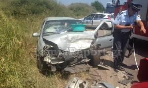 Τροχαίο με δύο σοβαρά τραυματίες στο δρόμο Λαμίας - Στυλίδας (photos)