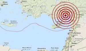 Σεισμός 5,1 Ρίχτερ βορειοανατολικά της Κύπρου (pic)