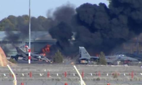 Σε σφάλμα ρύθμισης κατά την απογείωση αποδίδεται η συντριβή του ελληνικού F-16 στην Αλμπαθέτε