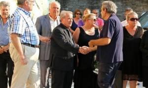 Συντετριμμένη η οικογένεια της Λένας Παπαθεμελή στην κηδεία της