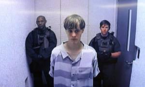 ΗΠΑ: Αθώος δήλωσε ο φερόμενος ως δράστης του μακελειού στο Τσάρλεστον