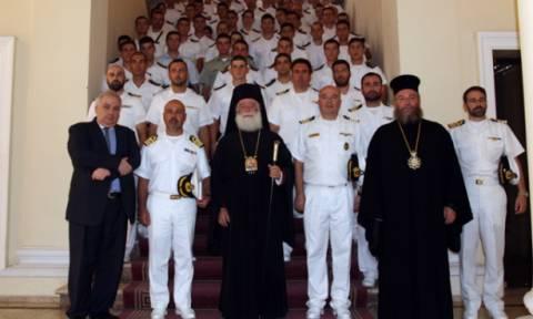 Στην Αίγυπτο το αρματαγωγό «Ικαρία»-Στον Πατριάρχη οι Ναυτικοί Δόκιμοι (pics)