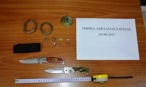 Έδεσσα: Σύλληψη 57χρονου για κατοχή αρχαίων αντικειμένων