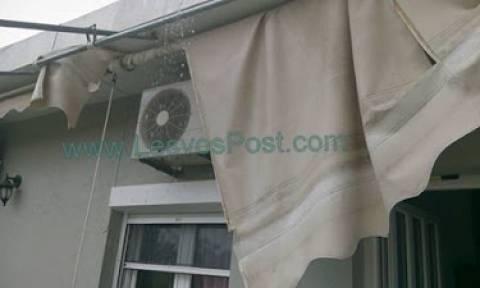 Λέσβος: Καταστροφές από ξαφνικό μπουρίνι (pics&vid)