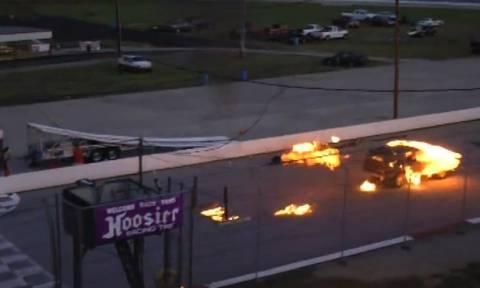 Τρομακτικό ατύχημα – Από τύχη γλίτωσε ο κασκαντέρ (video)