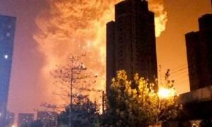 Κόλαση φωτιάς και εκρήξεων στη βόρεια Κίνα (video)