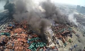 Κίνα: Εικόνες Αποκάλυψης στο σημείο των εκρήξεων - Ακόμα καίει η φωτιά (photos)