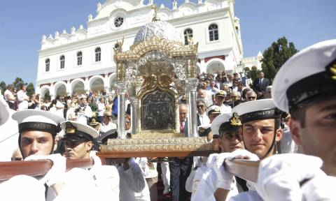 Παρουσία ΥΕΘΑ Π. Καμμένου στον εορτασμό της Κοιμήσεως της Θεοτόκου στην Πάρο και την Τήνο