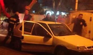 Φωτιά σε αυτοκίνητο στη Λέσβο (vid)