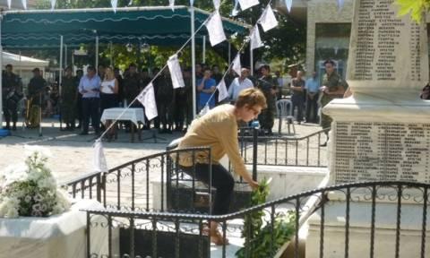 Γεροβασίλη: Παραβρέθηκε στις εκδηλώσεις για το Ολοκαύτωμα του Κομμένου Άρτας