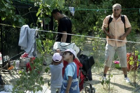 Μεταφέρθηκαν οι πρόσφυγες από το Πεδίον του Άρεως στον Ελαιώνα (photos)