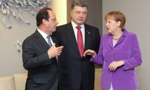 Τέλος στο νέο κύκλο βίας στην ανατολική Ουκρανία βάζουν Mέρκελ, Ολάντ και Ποροσένκο
