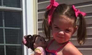 Αναρρώνει το κοριτσάκι του οποίου ο πατέρας του στέρησε το μισό εγκέφαλο