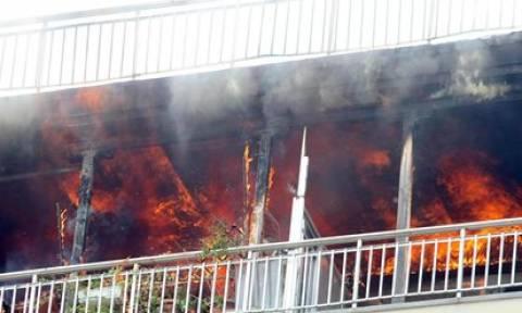 Ηράκλειο: Σημαντικές υλικές ζημιές από πυρκαγιά σε διαμέρισμα