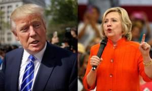Εκλογές ΗΠΑ: Μειώνει τη διαφορά από την Χίλαρι Κλίντον ο Ντόναλντ Τραμπ