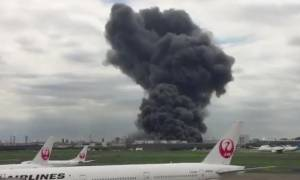 Έσβησε η φωτιά που ξέσπασε σε εργοστάσιο κοντά στο αεροδρόμιο Χανέντα