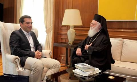 Συνάντηση Τσίπρα με τον Αρχιεπίσκοπο Αλβανίας