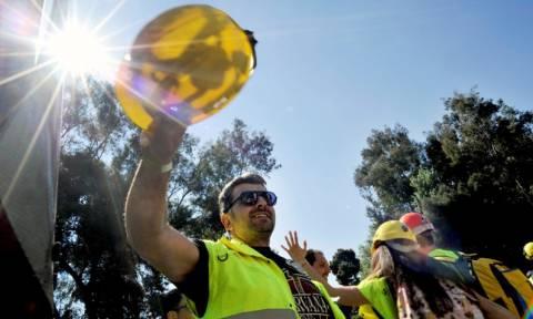 Χαλκιδική: Κλειστοί και πάλι οι κόμβοι Στρατωνίου και Πλανών από μεταλλωρύχους