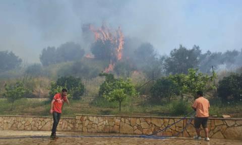 Σε ύφεση η μεγάλη πυρκαγιά της Πάτρας - Πληροφορίες για ένα καμένο σπίτι (photos-videos)