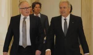 Το Γραφείο της Frontex επισκέφθηκαν ο αντιπρόεδρος της ΕΕ Φ. Τίμερμανς και ο  Δ. Αβραμόπουλος