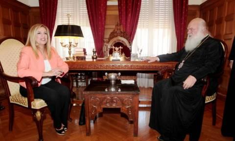 Η σταθερότητα σημείο αναφοράς στη συνάντηση του αρχιεπισκόπου Ιερωνύμου με την Γεννηματά