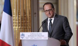 Ολάντ: Η Γαλλία ανοίγει τις πόρτες της για 24.000 πρόσφυγες