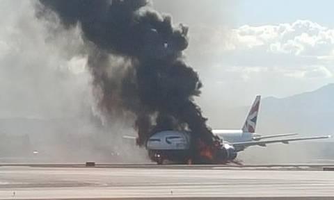 Πανικός σε πτήση των British Airways - Αεροπλάνο πήρε φωτιά κατά την απογείωση (photos+video)