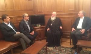 Στο πλευρό των μεταλλωρύχων ο Αρχιεπίσκοπος Ιερώνυμος