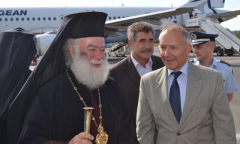 Εκλογές 2015: Την ευχή του πατριάρχη Αλεξανδρείας πήρε ο Στέφανος Γκίκας