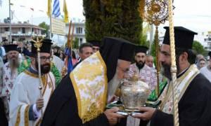 Υποδοχή Τιμίας Κάρας του Αγίου Επιφανίου στην Παναγία Σουμελά