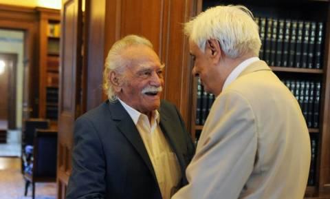 Συνάντηση Γλέζου - Παυλόπουλου στο Προεδρικό Μέγαρο (pics)