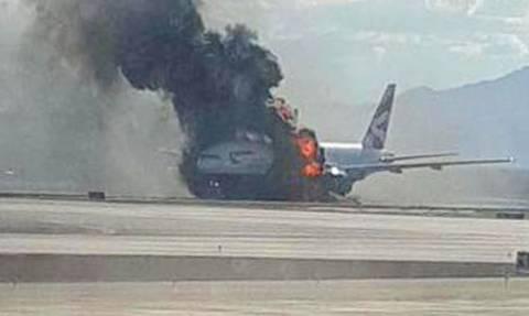 Στιγμές τρόμου μέσα στο αεροπλάνο της British Airways που άρπαξε φωτιά (video)