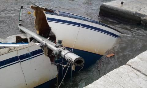 Κέρκυρα: Μπουρίνι «τσάκισε» ολόκληρα ιστιοφόρα (photos)